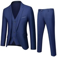 Men's Suits & Blazers Suit Business Three Piece Leisure Professional Work Slim Man Wedding Dress