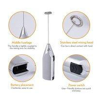 Leite de aço inoxidável elétrico de aço inoxidável Frother Foamer Bebida Misturador de Batido Elétrico Bateria de Bateria Ovos de Cozinha Agitador DWF5814