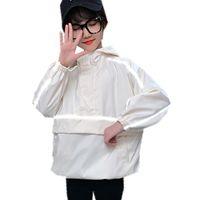 Boys Girl Autumn Hooded Jacket Reflective Coat Luxury Teens Kids Light-Reflecting Outerwear Age 4 5 7 9 11 13 14 Yrs Jackets