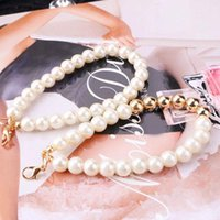 Keychains Simple Imitation Pearl Bracelets Beautiful Metal Bead Chains Multifunctional Mobile Phone Accessories Bag