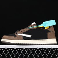 2021 zapatos de baloncesto de la alta calidad de la alta calidad para hombres 1 s marrón marrón deportes al aire libre