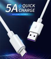 Echte 5A 100 cm 3ft Superladet Kabel für Huawei Samsung Moto LG USB Kabeltyp C Kabel USB 3.1 Typ-C Schnelle Ladekabel