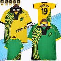 1998 Jamaica Home Youse Рубашка Ретро Футбол Джетки Reggae Boyz Gardner Sinclair Brown Dawes Simpson Powell Gayle Williams Boyd 98 Классические футболки