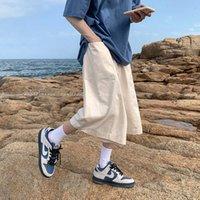 Привашнечник мужская повседневная негабаритные шорты мода мужские сплошные цветные брюки хараджуку уличные шорты мужская одежда 210622
