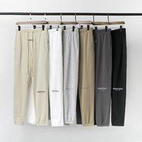Letra esenciales pantalones de otoño pantalones de diseño de cintura gruesa reflectante miedo a dios casual al aire libre deportes puertas de limpieza elástica niebla leggings para hombre bordado