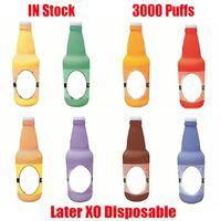 Kit de périphérique de pod à usage unique d'origine XO XO E-cigarette 3000 bouffées 1100mAh Batterie 8 ml Cartouches préremplies RGB Light Vape Stick Stylo Puff Plus XXL 100% authentique