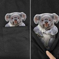 Men's T-Shirts CLOOCL Pure Cotton T-Shirt Fashion Brand Summer Pocket Australian Koala Printed Shirt For Women Shirts Hip Hop Tees