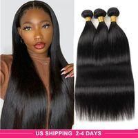 3Pcs Loose Deep Curly Brazilian Human Hair Bundles Yaki Straight Body Water Virgin Hair Extensions