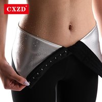 Женские формирователи CXZD женщины серебряные ионные покрытия Thermo брюки пота сауна костюмы тела женщина талии тренер похудение шорты фитнес леггинсы