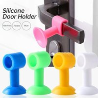 Punch-Free Silicone Door Stopper Bathroom Door Rear Collision Avoided Door Suction Cup Mute Buffer Collision Pad