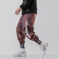 Streetwear Reflective Harem Jogger Pantalon Hommes 2021 Nouveaux Joggers Mens Pantalons Imprimer Pantalon Pantalon Hommes Pantalon Hommes