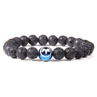 8MM Black Lava Stonetwelve constellations Bracelets Aromatherapy Essential Oil Diffuser Bracelet For Women Men Friend jewelry