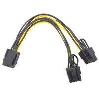 2021 PCI-E 6-pin to 2x 6+2-pin to 2 x PCIe 8 (6+2) pin Motherboard Graphics Video Card PCI-e GPU VGA Splitter Power Cable