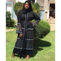 Style African Dashiki Abaya Fashion Drill Net Fabric Stretch With Scarf Long Dress Size XXL XXXL Ethnic Clothing