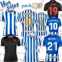 Gerçek Sociedad Futbol Formaları 20/21 Silva Copa del Rey Willian J. Oyarzabal Futbol Forması Zubeldia Merino Isak Camiseta De Txuri-Urdin 2021 gömlek