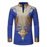 Wild design tribal pattern men's African big compress long-sleeved T-shirt fashion novelty luxury comfortable lightweight breathable
