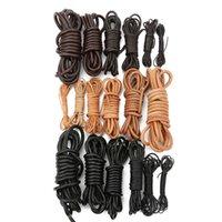 2 метеры круглые подлинные коровьи кожаный шнур 1 2 3 4 5 6 8 мм черная коричневая кожаная веревка веревка DIY браслет ожерелье ювелирные изделия