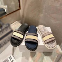 Женщины тапочки мода парижские сандалии летние девушки пляжные скольжения толстые нижние тапочки платформы алфавит леди кожаный высокий каблук тапочки домой011 20