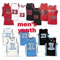 Nave da US Chicago MJ Basket Blayball Jersey Men Youth Kids Jerseys Cucito rosso Bianco Bianco Blu Nero Top Quality