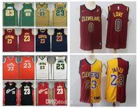 Klassischer Vintage-Jersey 23 Lebron James # 132; Cleveland # 132; Cavaliers # 132; Mens 0 Kevin Love Authentic 2003-04 Collage Hardwoods Basketball-Trikots