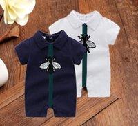 Designer 2021 Abiti infantili Baby Boys Girls Rompere Vestiti Bambini Carino stampa Bambino manica corta Bambini tuta tuta