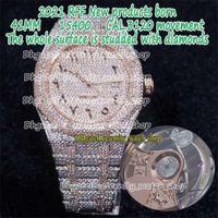 RFF Gypsophila Pavé Diamond Version 15400 Arabisk ratt Fullt Iced Out Rem Side med Diamanter Cal.3120 A3120 Automatic Mens Watche Catstore
