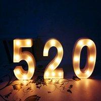 Işık Yukarı Sayı Yüksek Işıklı Işıklı Ahşap 3D Marquee Harfleri LED Işıkları Ile Duvar Asılı veya Bağlantısız Yenilik Öğeleri