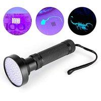 UV LED 100 LED LED 395NM Ultra Violet Lampe de lampe de la lampe de la lampe de la lampe de la lampe de nuit pour chiens Tarifs d'animaux de compagnie d'urine et bugs de lit lampe de poche Torches