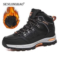 Brand Winter Men's Boots Plush Warm Snow Waterproof Ankle Breathable Handmade Outdoor Men Hiking 211022
