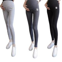 Maternity Leggings High Waist Belly Support Ankle Length Cats Print Trousers Adjustable Over Bump Pants For Pregnant Women Women's & Capris