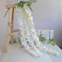 المركزية الراقية لحفلات الزفاف الحرير زهرة سلسلة الوستارية كرمة باقة جارلاند الرئيسية حلية 30 جهاز كمبيوتر شخصى / الكثير زخرفية الزهور أكاليل