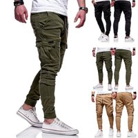 Men's Pants Casual Outdooer Mulit Pocket Cargo Streetwear Hip Hop Harem Fitness Gym Jogger Sweatpants