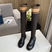 가을과 겨울 양말 낮은 뒤꿈치 부츠 패션 섹시한 니트 탄성 부츠 편지 여성 신발 3 높이와 4 색 35-40 벨트 상자