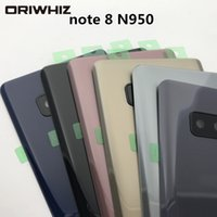 Samsung Galaxy NOTE 8 N950 N950V N950A Bottom Battery Door Back Glass Cover Door Housing+ Camera Glass Lens + Adhesive Sticker
