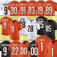 Ja'marr Chase 9 Joe Burrow 28 Joe Mixon Football Jerseys 94 Sam Hubbard 85 Tee Higgins 83 타일러 보이드 3 Austin Seibert 22 Chidobe Awuzie