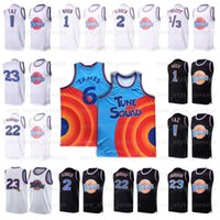 NCAA Mens Space Space Jam 2 Jersey Bugs Bunny Tunes Squad Michael D.Duck! Taz 1/3 Tweety 22 Bill Murray James 10 Lola basket maglie