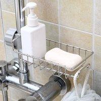 Hooks & Rails Sponge Storage Faucet Holder Soap Drainer Shelf Basket Organizer Bathroom Accessories Kitchen Stainless Steel Sink Drain Rack