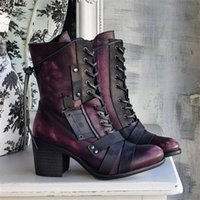 Boots Chunky Women Designer Motorcycle British Style Fashion Casual Party Pumps Shoes Thick Heel Platform Booties