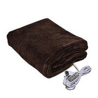 Cobertores Timer Configurações USB Aquecimento Inverno Quente Shawl Portátil Camping 3 Níveis Escritório Home do Carro para Sofá Cama Macio Plush Cobertor Elétrico
