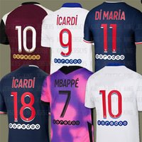 20 21 mbappe كين لكرة القدم الفانيلة Verratti Marquinhos Kimpembe di Maria قمم قميص الرجال والاطفال مجموعات مايلوتس دي كرة القدم