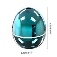Usb mini umidificador de ovos com colorido LED Luz portátil Ovo Tumbler Aroma Difusor Auto Shut-off Humidificador para carro Home Office RRD6921