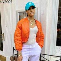 Women's Jackets UVRCOS Long Sleeve Top Woman Jacket 2021 Fashion Veste Baseball Autumn Clothes Women Stand Neck Zipper Casual Y2K Streetwear