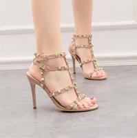 Kardashian роскошные женские туфли жестокие летние насосы полированные золотые металлические листья крылатых гладиаторов сандалии высокие каблуки обувь с коробкой