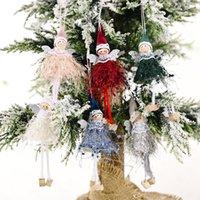 크리스마스 춤 천사 인형 펜던트 크리스마스 트리 매달려 장식품 플러시 엘프 휴일 새해 선물 W-01161