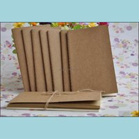 Notes Notepads Supplies Office School Business & Industrial8.8*15.5Cm Cowe Paper Notebook Blank Notepad Vintage Soft Daily Memos For Sketchi