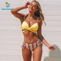 Beachsissi plus Größe Sexy Bikinis Badeanzüge Frauen Hohe Taille Badebekleidung Streifen Print Push Up Beachwear Badeanzug Mujer Biquini Frauen