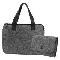 Storage Bags Versatile Felt Electronic Laptop Notebook Carrying Sleeve Case Bag IPads With Wallet