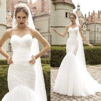 Dernière robe de mariée à la tulle à la tulle froncée, blanche / ivoire marier robes de mariée robes de mariée Vestido de Festa Curto