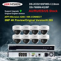 HikVision Security Camera System 8ch 8MP 4K PoE NVR Kit CCTV DS-2CD2185FWD-I 2.8MM DS-7608NI-K2 / 8P Kit wireless IP Video Survellance IP