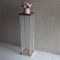 Party Decoration Clear Wedding Centerpiece Acrylic Bead Strands 120cm Tall Road Cited Flower Stand For Table Decor.